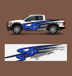 abstract modern graphic design for truck and vector image