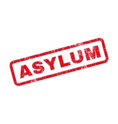 Asylum Text Rubber Stamp vector