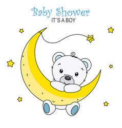 baby shower boy vector image