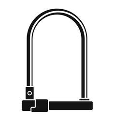 Bike locker icon simple style vector