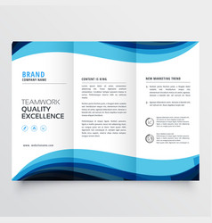 Business trifold brochure design template vector