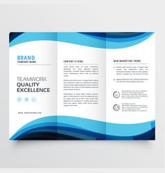 Business trifold brochure design template vector