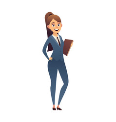 business woman isolated on white background vector image