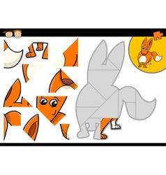 Cartoon jigsaw puzzle task vector