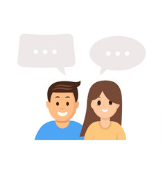 cartoon people with speech bubbles vector image
