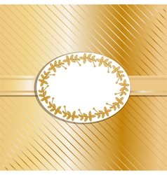 Christmas background and label gold vector