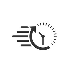 clock countdown icon in flat style time vector image