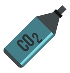CO2 bottle icon flat style vector