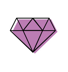 Color beauty luxury diamond gen accessory vector