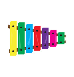 colored xylophone toy icon vector image