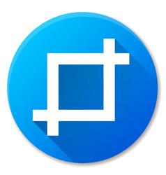 Crop blue circle icon vector