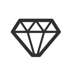 crystal stone line icon vector image