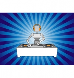 DJ robot vector image vector image