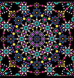 dots mandala pattern vector image