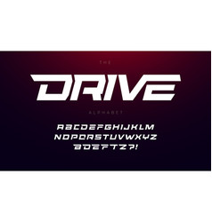 drive font bold italic letters with dynamic slant vector image