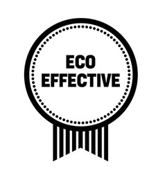 Eco effective stamp on white vector