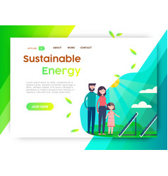 Eco friendly campaign web landing page template vector