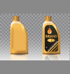 Engine oil plastic bottle package mockup set vector