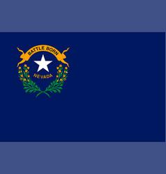 Flag usa state nevada vector