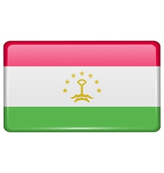 Flags Tajikistan in the form of a magnet on vector
