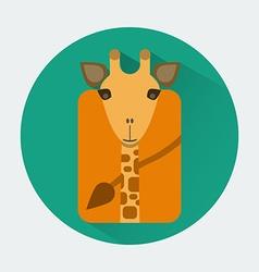 Giraffe Baby Animal Icon vector