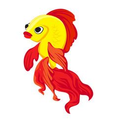 goldfish icon cartoon style vector image