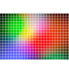 Green blue orange red square mosaic background vector