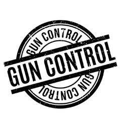 Gun control rubber stamp vector