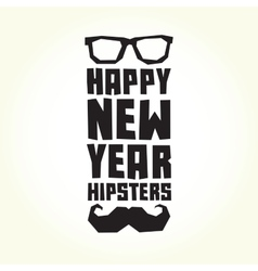 Happy new year hipsters vector