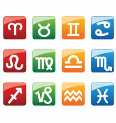 horoscope symbols vector image
