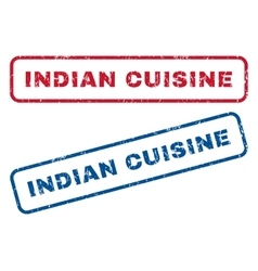 Indian Cuisine Rubber Stamps vector