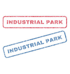 Industrial park textile stamps vector