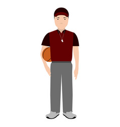 isolated physical education teacher avatar vector image