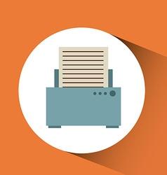 isolated retro icon design vector image