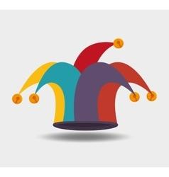 Jester hat design vector