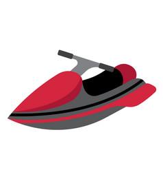 Jet ski transportation cartoon character vector