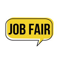 Job fair speech bubble vector