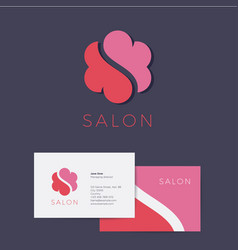Logo s flower salon identity flower cloud vector