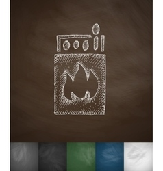 Matches icon Hand drawn vector