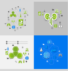 Medicine sticker infographic vector