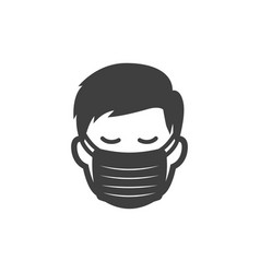 men with protection mask icon image vector image