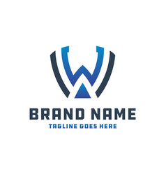 Monogram logo letter wa vector