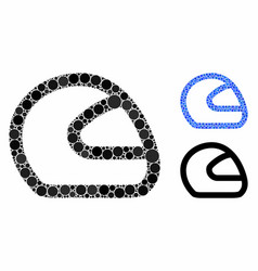 Motorcycle helmet composition icon circles vector