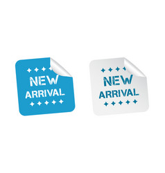 new arrival stickers on white background vector image