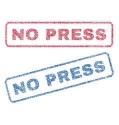 No press textile stamps vector