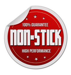 Non-stick label or sticker vector