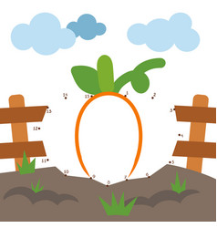 numbers game for children pumpkin vector image