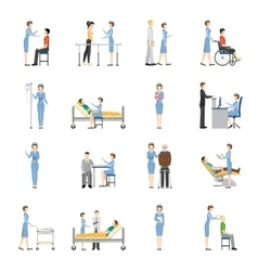 Nurse Health Care Decorative Icons vector