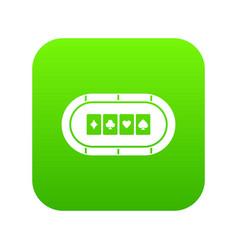poker table icon digital green vector image