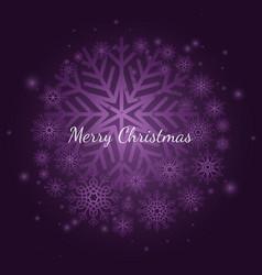 purple winter snowflake christmas background vector image